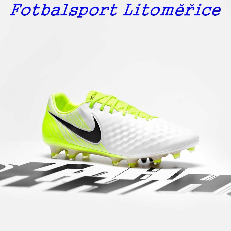 d12a59839 FG - lisovky | Kopačky Nike Magista Opus II FG bílá/žlutá ...