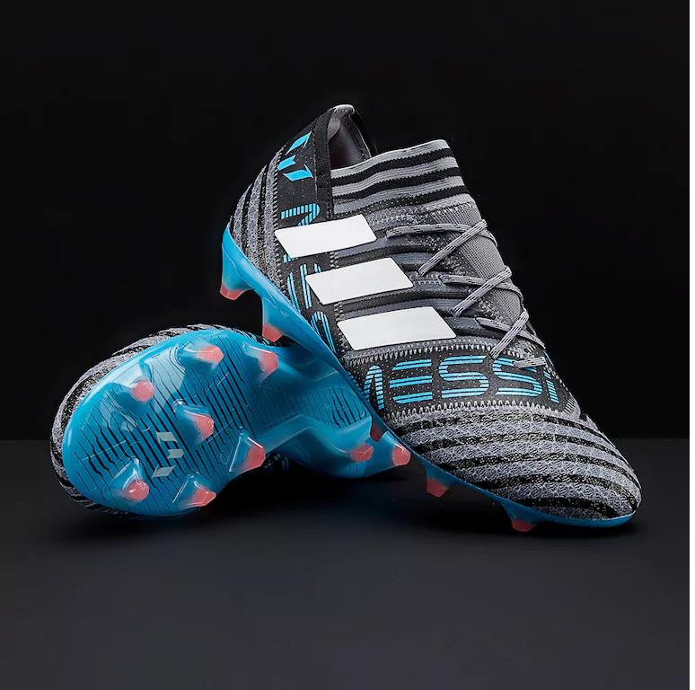 9b7e6248e7749 FG - lisovky   Kopačky adidas Nemeziz Messi 17.1 FG černá/modrá ...